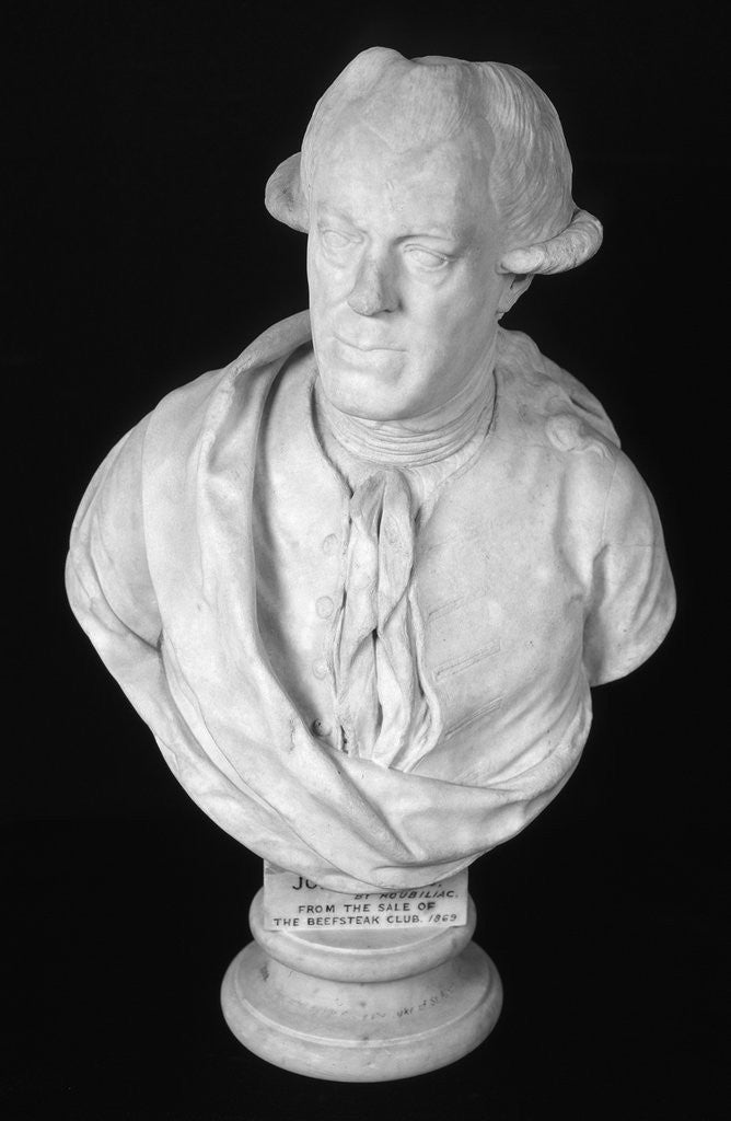 Detail of Bust of John Wilkes, 18th century English journalist and politician by Louis Francois Roubiliac