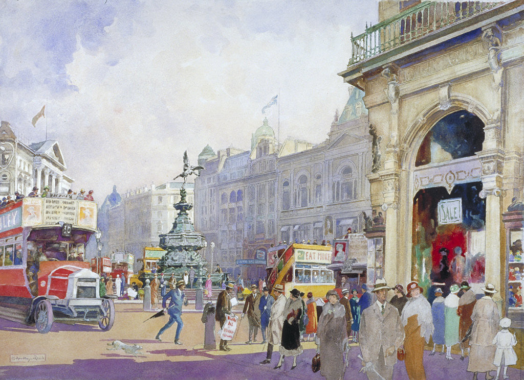 Detail of Piccadilly Circus by Edward Harry Handley-Read