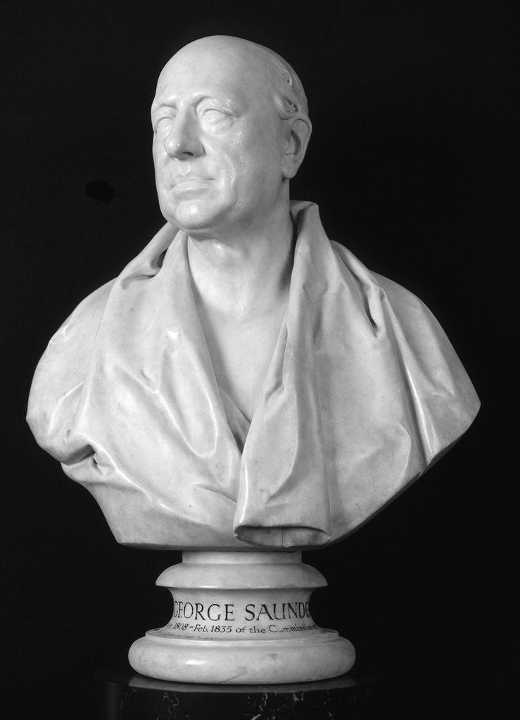 Detail of Bust of George Saunders, British architect by Francis Legatt Chantrey