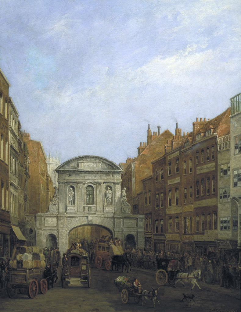 Detail of Temple Bar from the Strand by William Henry Haines