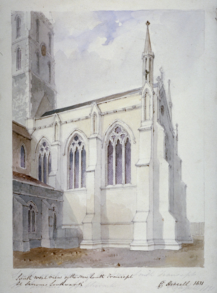 Detail of Southwark Cathedral, London by Edward Hassell