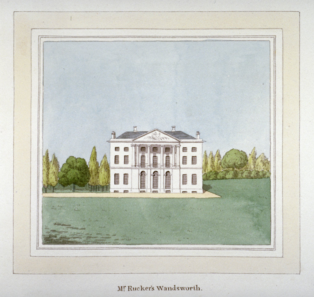 Detail of View of DH Rucker's residence at West Hill in Wandsworth, London by Anonymous