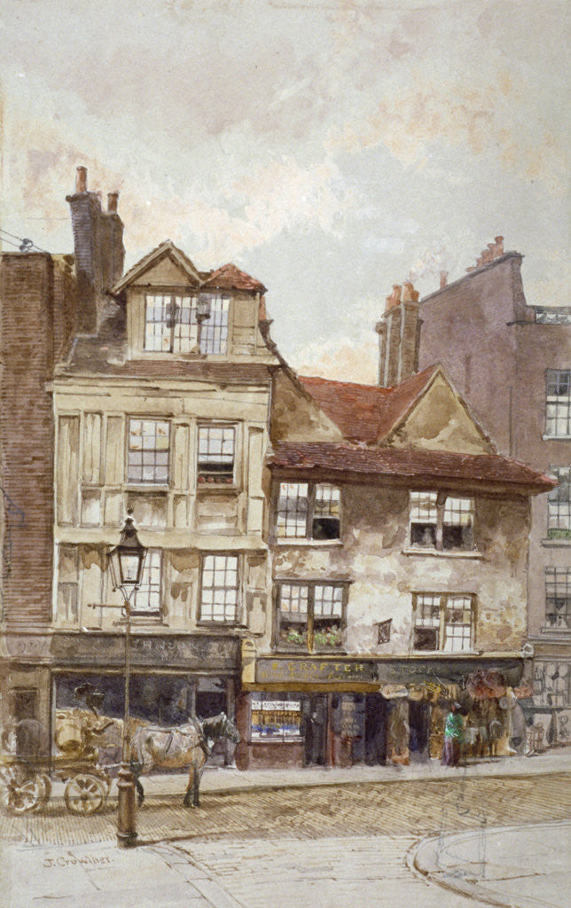 Detail of View of nos 87-89 Drury Lane, Westminster, London by John Crowther