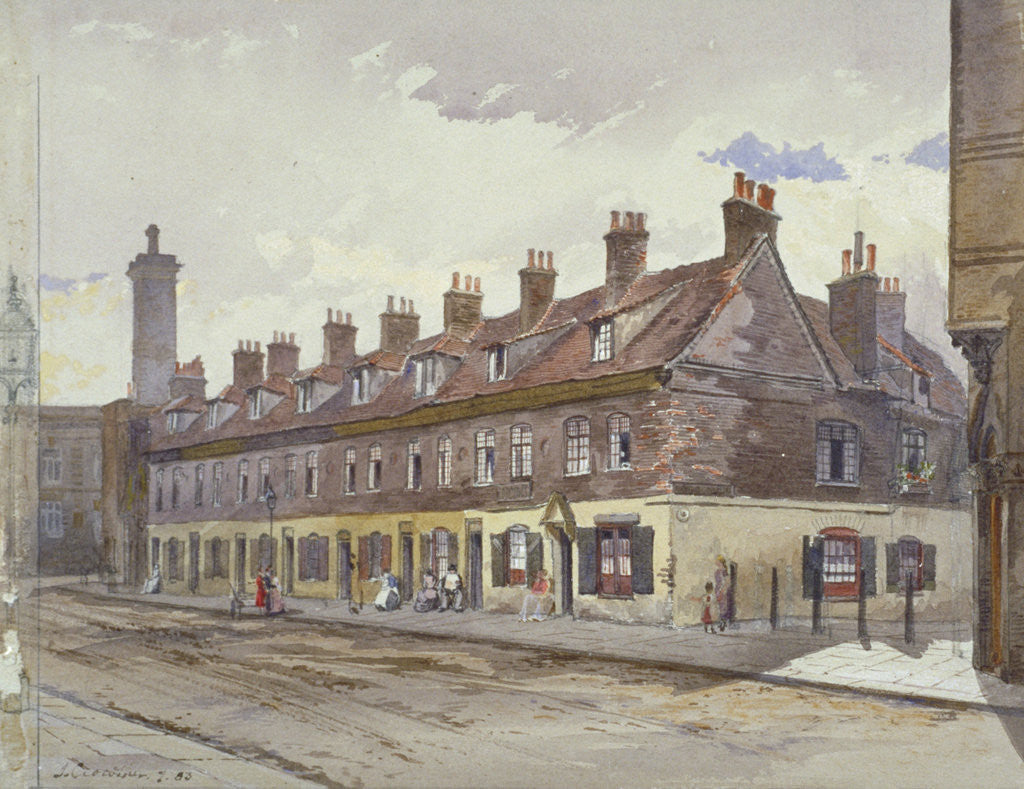 Detail of View of Old Pye Street, Westminster, London by John Crowther