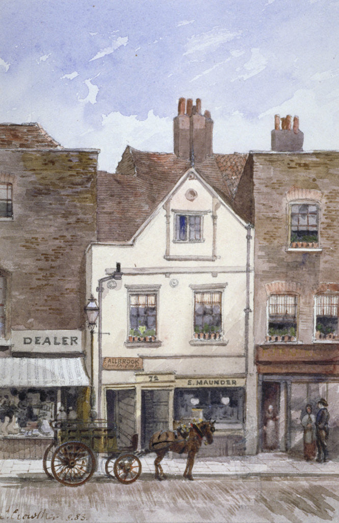 Detail of View of no 72 Cheyne Walk, Chelsea, London by John Crowther