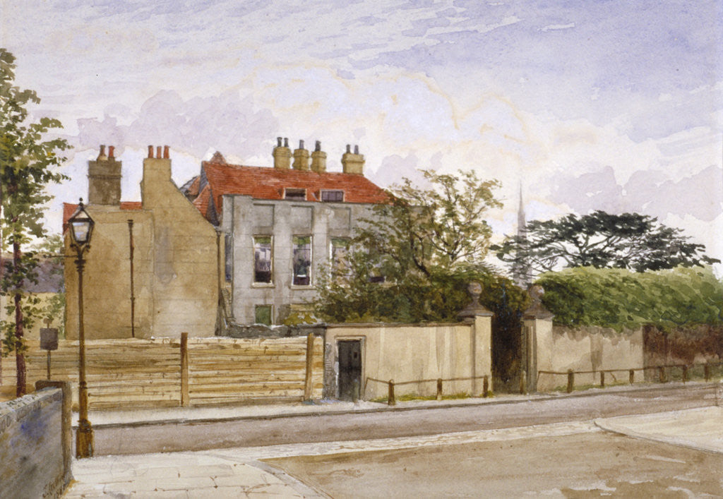 Detail of View of Turret House, Lambeth, London by