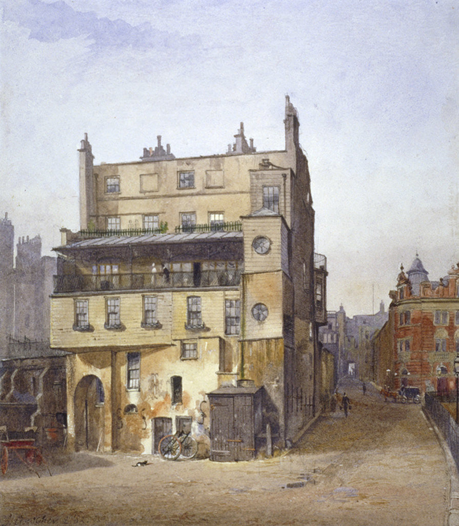 Detail of View of a house, Cecil Street, Westminster, London by John Crowther