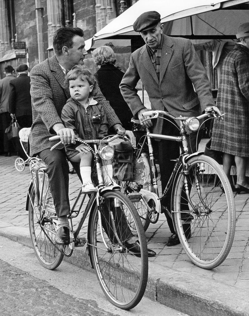 Detail of Cyclists, Brugge, Belgium, c1960s by Tony Boxall