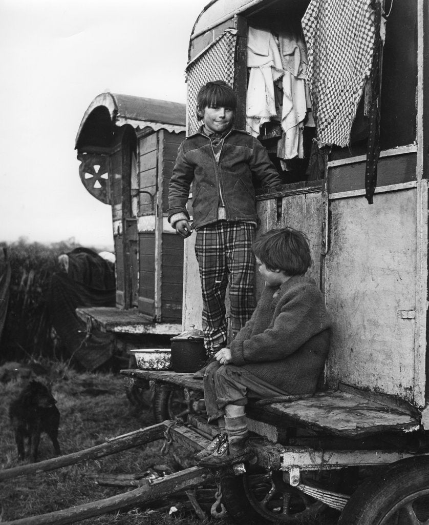 Detail of Gypsy boys playing, 1960s by Tony Boxall