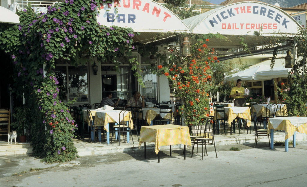 Detail of Taverna, Nidri, Levkas, Greece by Tony Boxall