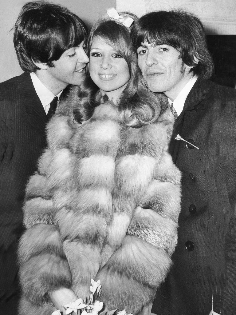 Detail Of George Harrison And Pattie Boyds Wedding With Paul McCartney By Associated Newspapers
