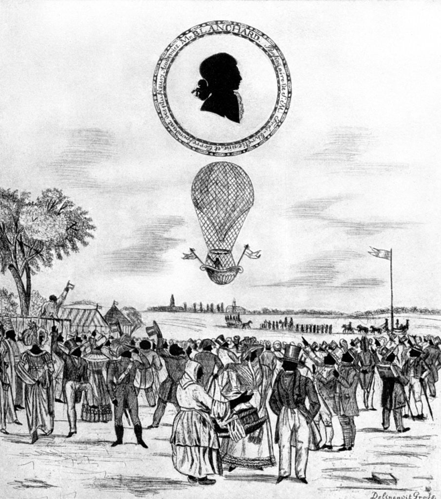 Detail of 'Blanchard's Balloon' by Anonymous