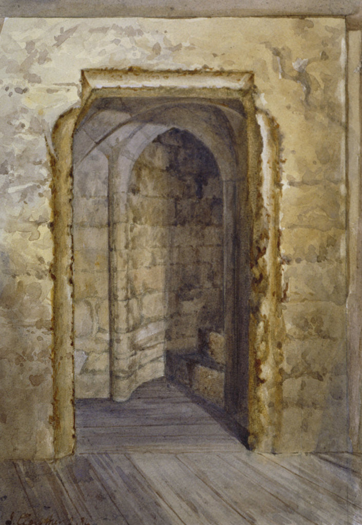 Detail of Interior of the Bloody Tower in the Tower of London by John Crowther