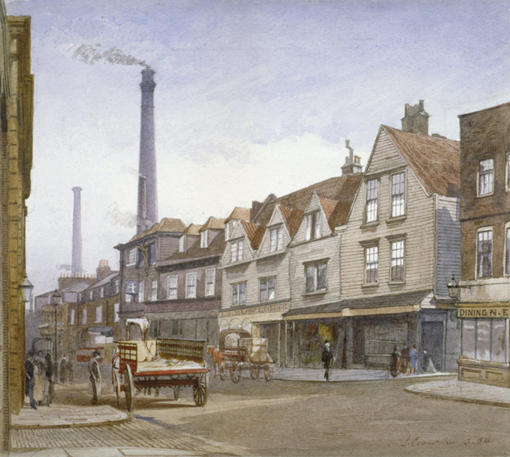 Detail of View of Mint Street, Southwark, London by John Crowther
