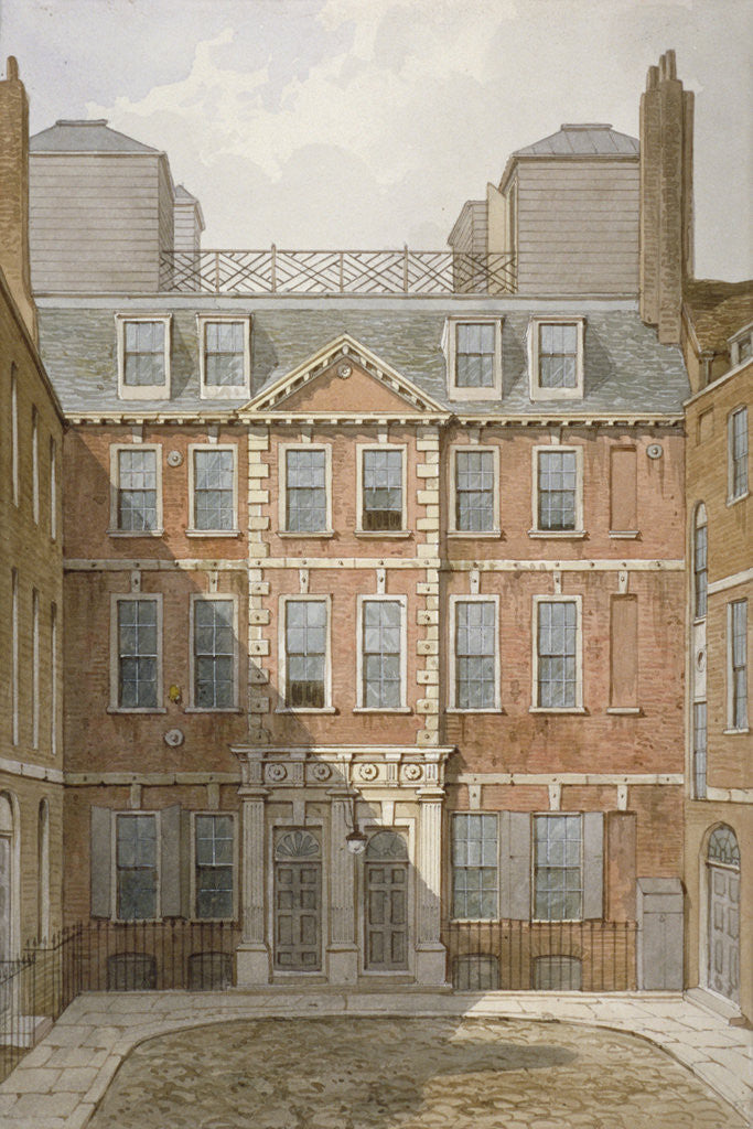 Detail of Beaufort Buildings, Strand, Westminster, London by George Shepherd