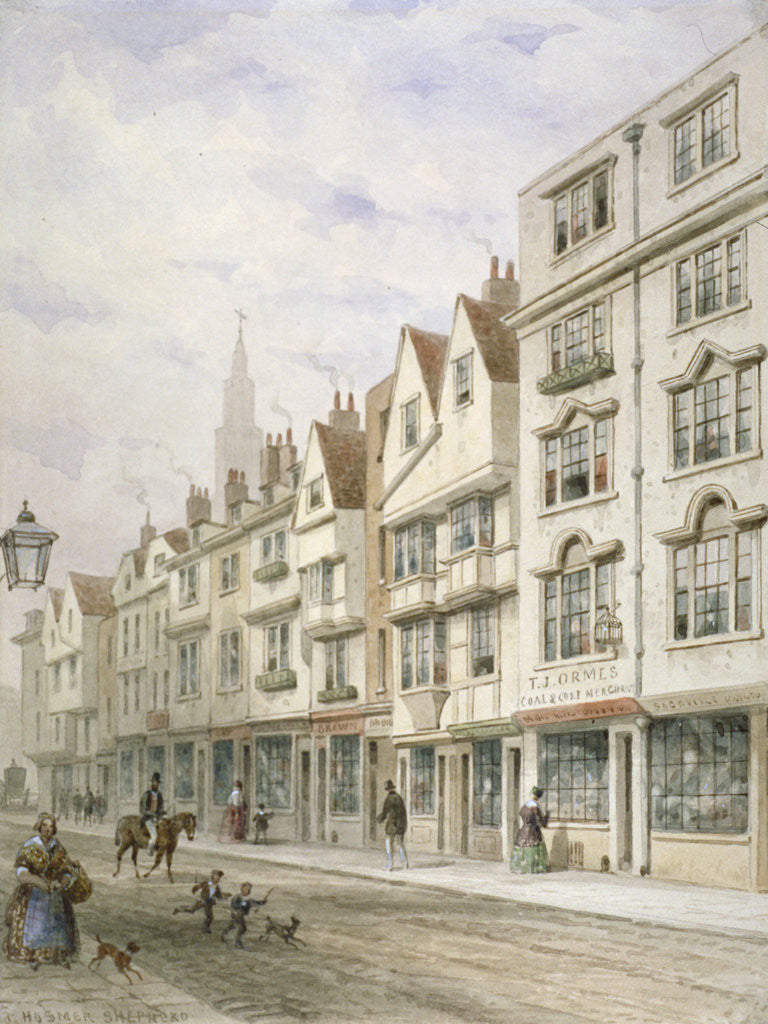 Detail of Wych Street, Westminster, London by Thomas Hosmer Shepherd
