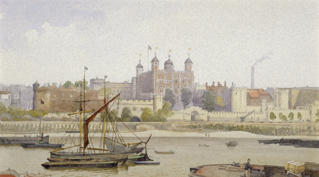 Detail of Tower of London, Stepney, London by John Crowther