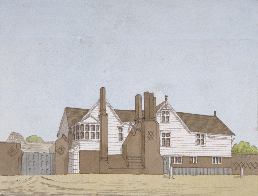 Detail of View of Hyde House in Plaistow, Newham, London by Anonymous