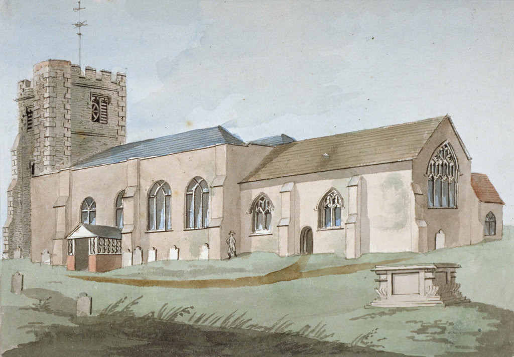 Detail of South-east view of All Saints Church, Edmonton, Enfield, London by Anonymous