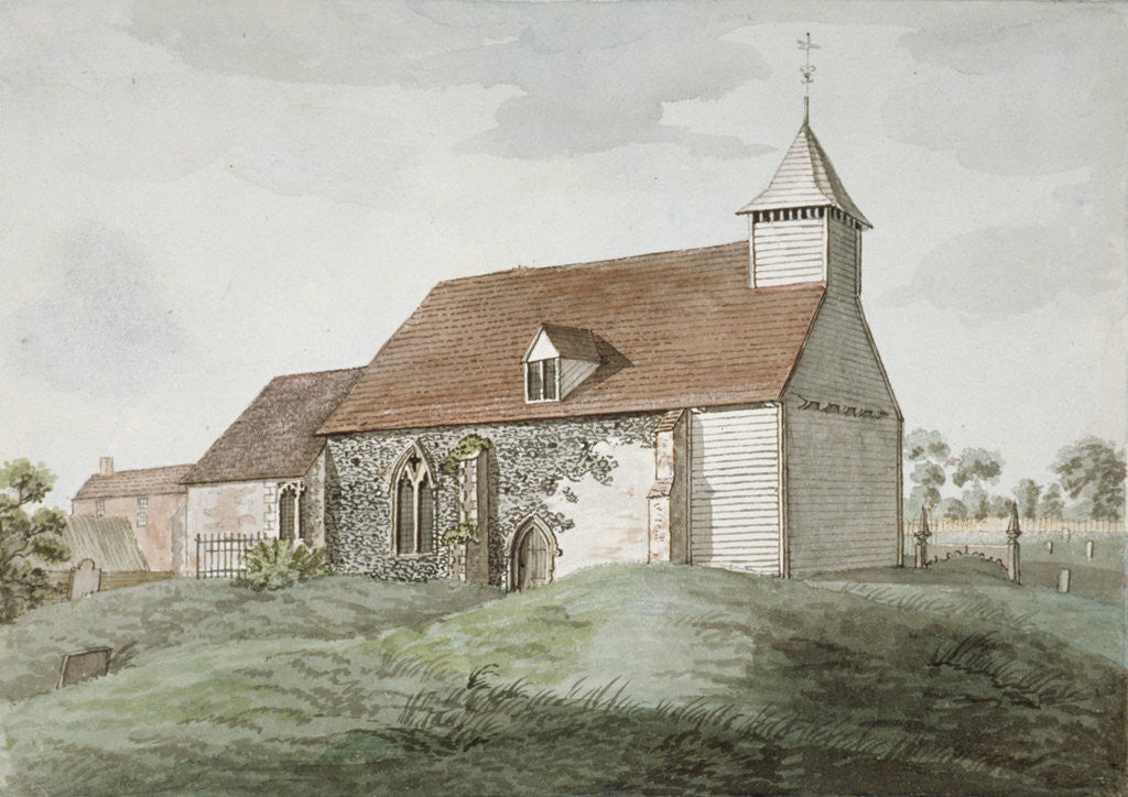 Detail of North-west view of Holy Cross church, Greenford, Middlesex by Anonymous