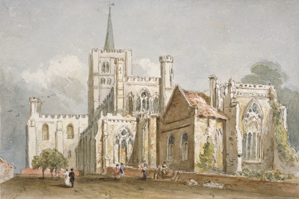 Gift Wall art for home painting gallery or office. Limited edition artist signed St Albans Cathedral Hertfordshire art print picture