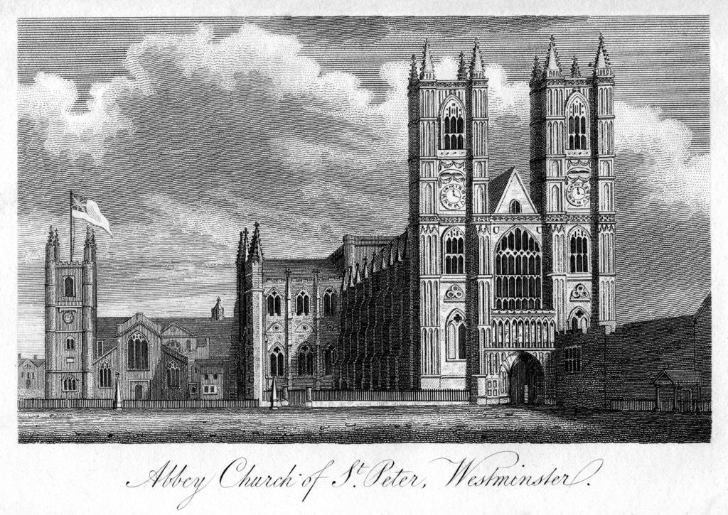 Detail of 'Abbey Church of St Peter, Westminster', London by Anonymous