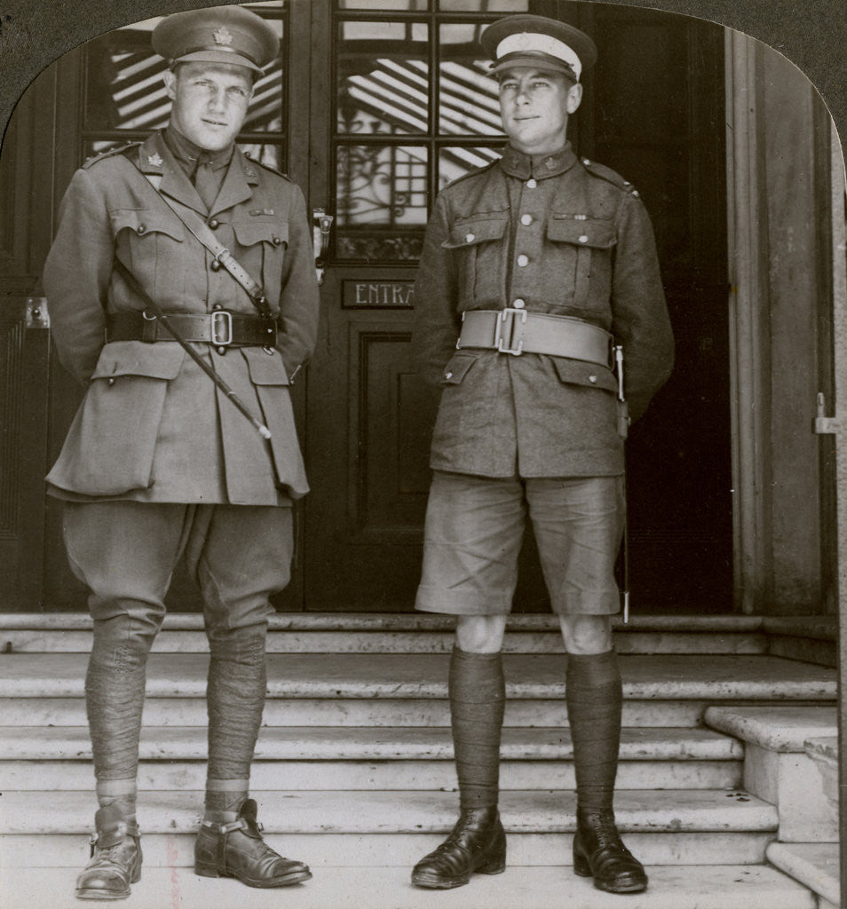 Detail of Captain MacDougall, DSO, and Cadet Mullin, two Canadian VCs, World War I by Realistic Travels Publishers