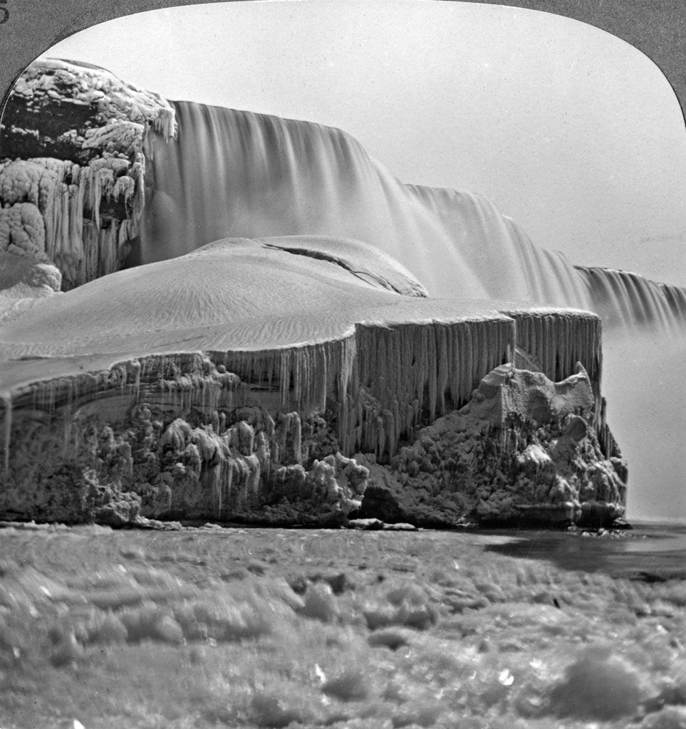 Detail of American Falls, Niagara Falls, in winter, New York, USA by Realistic Travels Publishers