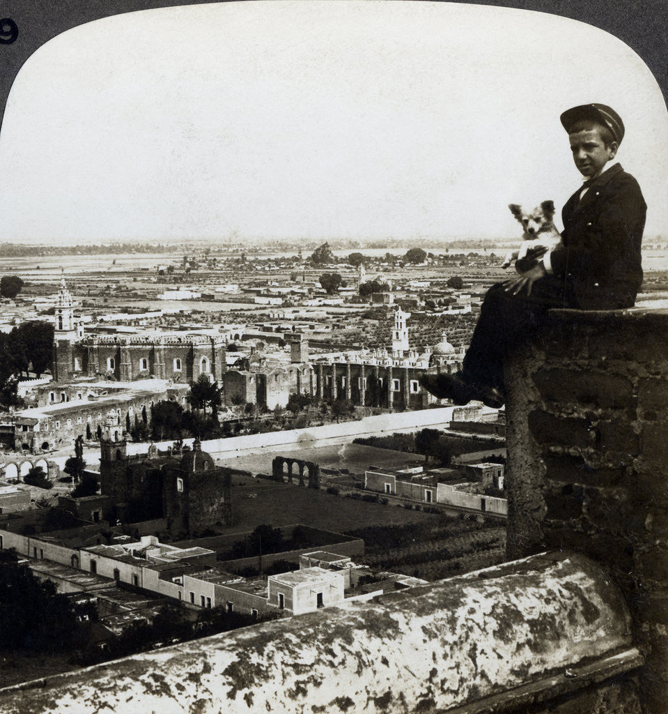 Detail of View of Cholula, Mexico by Underwood & Underwood