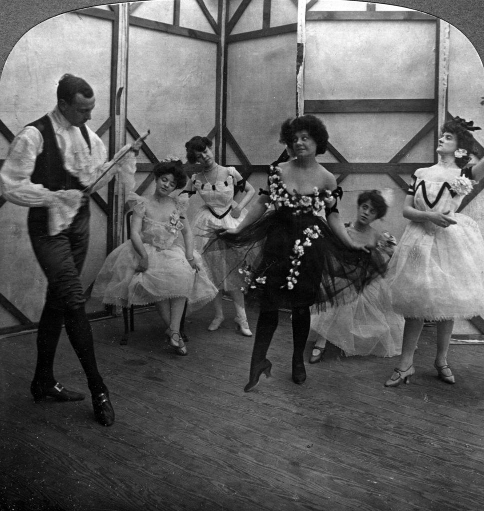 Detail of The School of the Ballet by American Stereoscopic Company