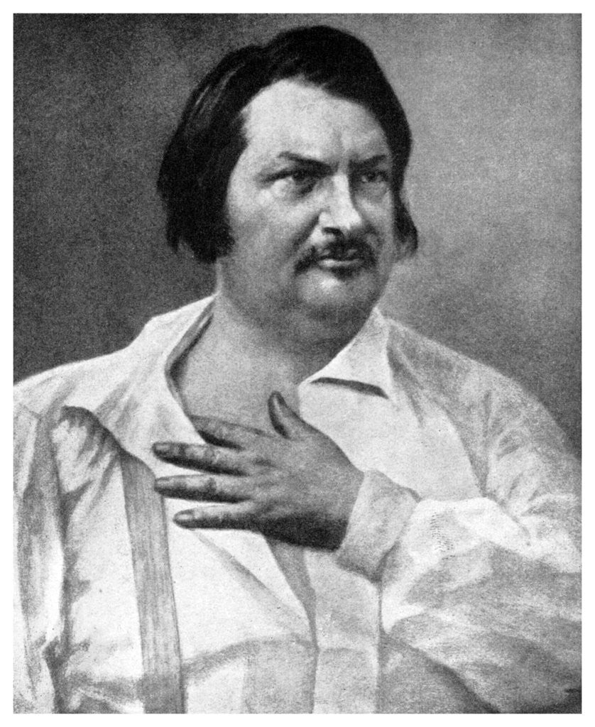 Detail of honore de balzac french novelist by anonymous