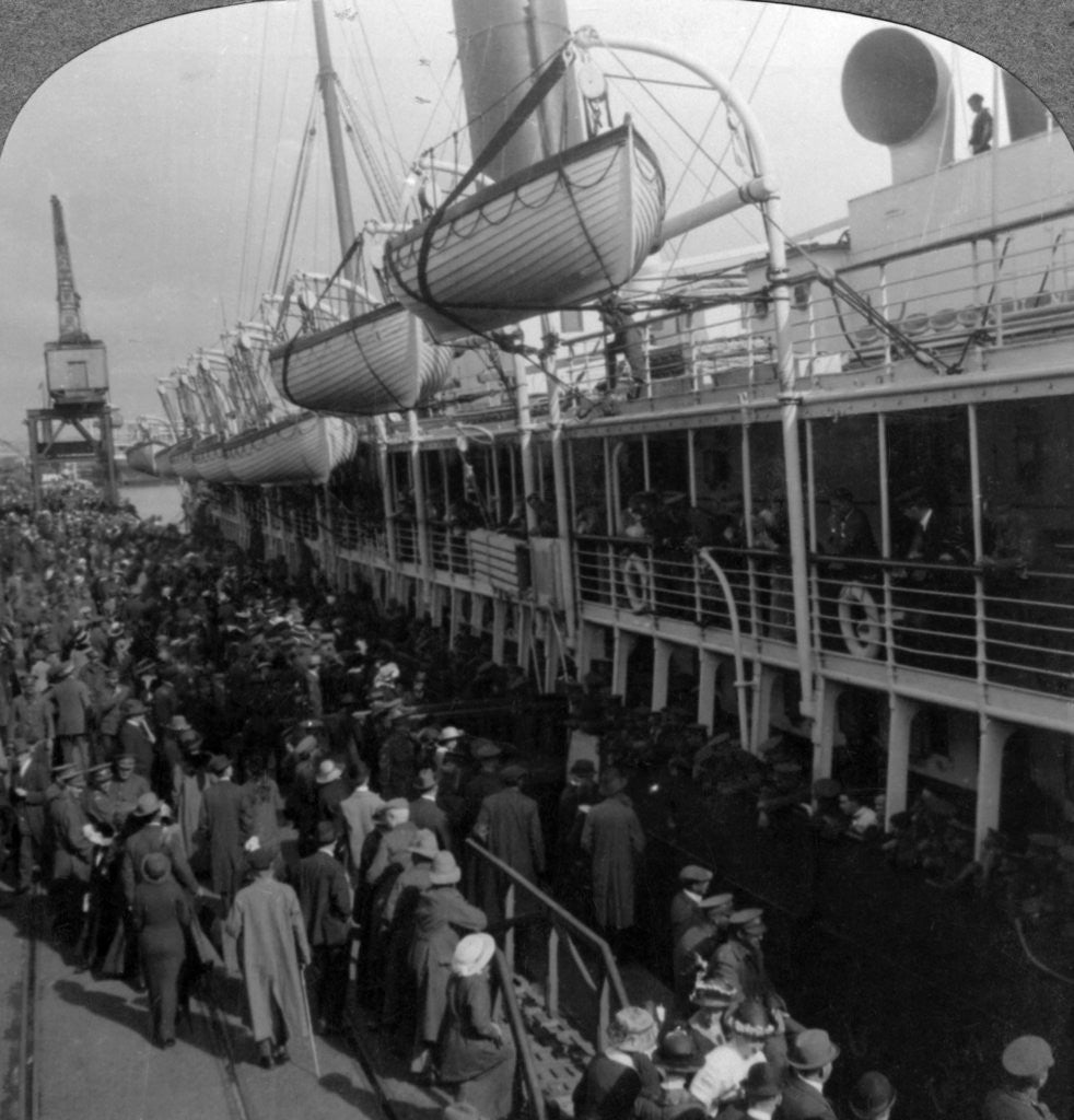 Detail of Aviation Corps boarding a ship, World War I by Realistic Travels Publishers