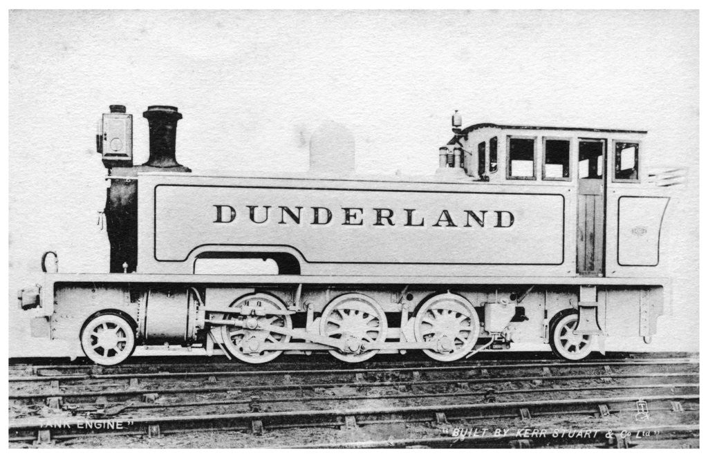 Detail of Tank engine, steam locomotive built by Kerr, Stuart and Co by Raphael Tuck