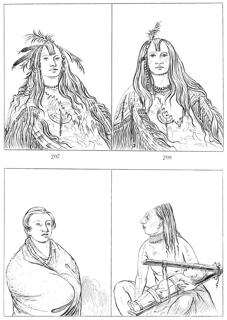 Detail of Flatheads, Nez Perces and Chinooks by Myers and Co