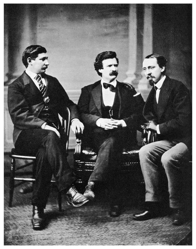 Detail of Alfred Townsend, Mark Twain and David Gray by Anonymous