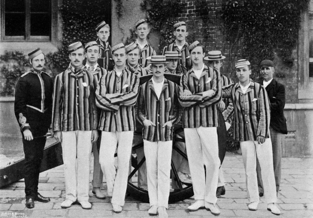 Detail of The Royal Military Academy cricket team by Hudson & Kearns