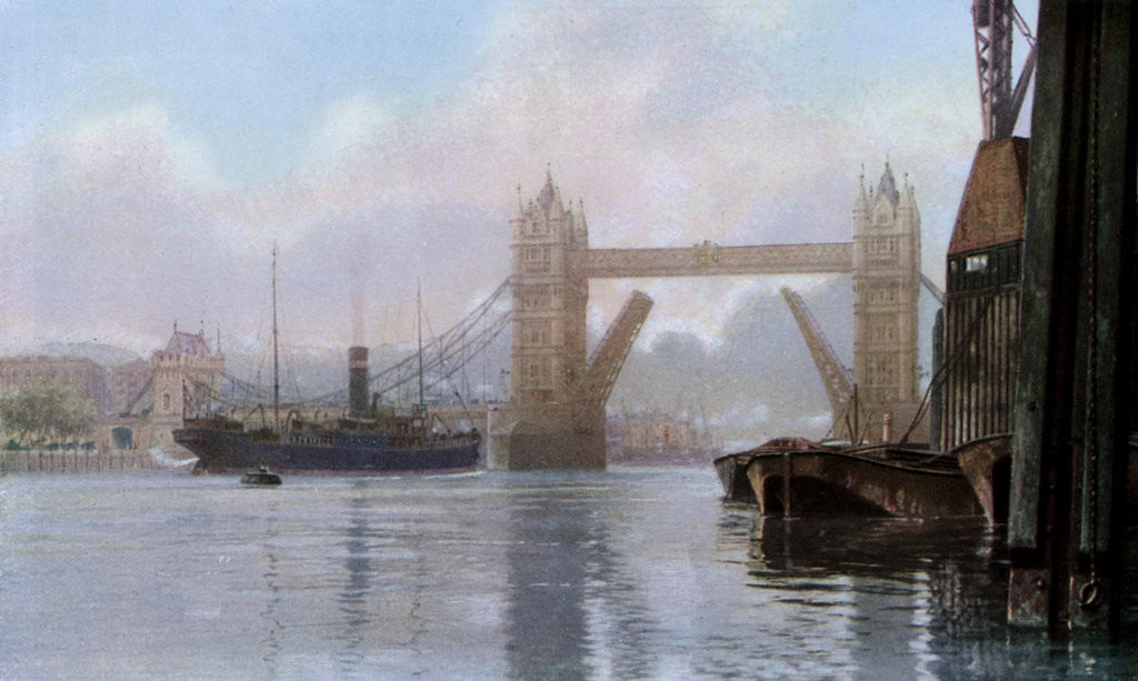 Detail of Tower Bridge, London by Anonymous