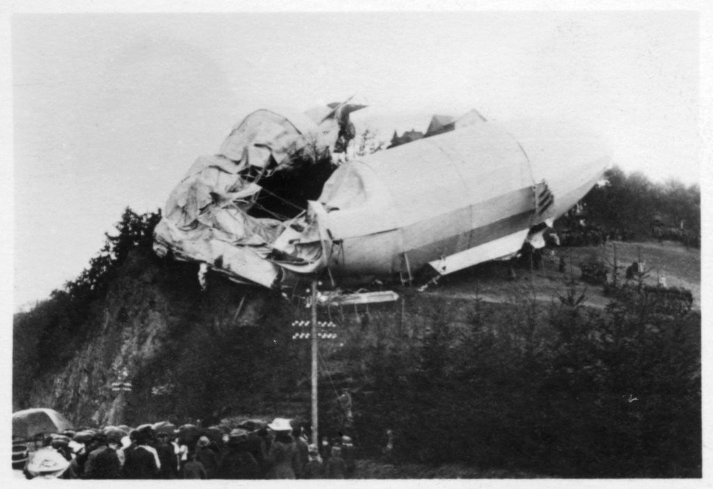Detail of Army Zeppelin Z2 (LZ5) stranded near Weilburg during a storm, Germany by Anonymous
