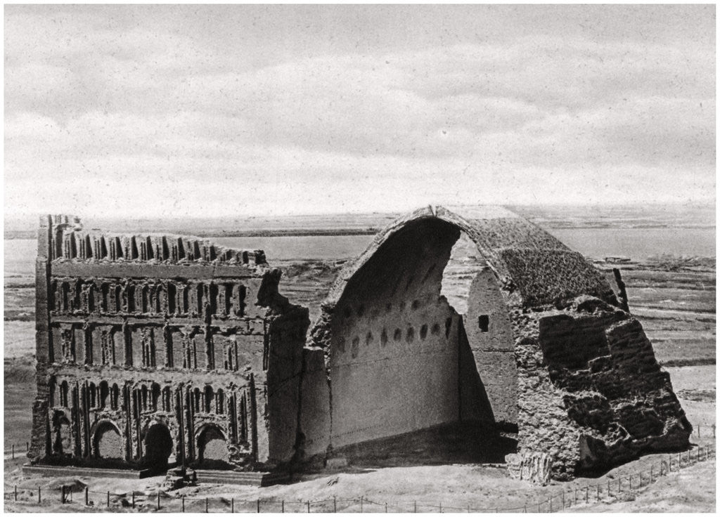 Detail of The Taq-i Kisra from the air, Ctesiphon, Iraq by A Kerim