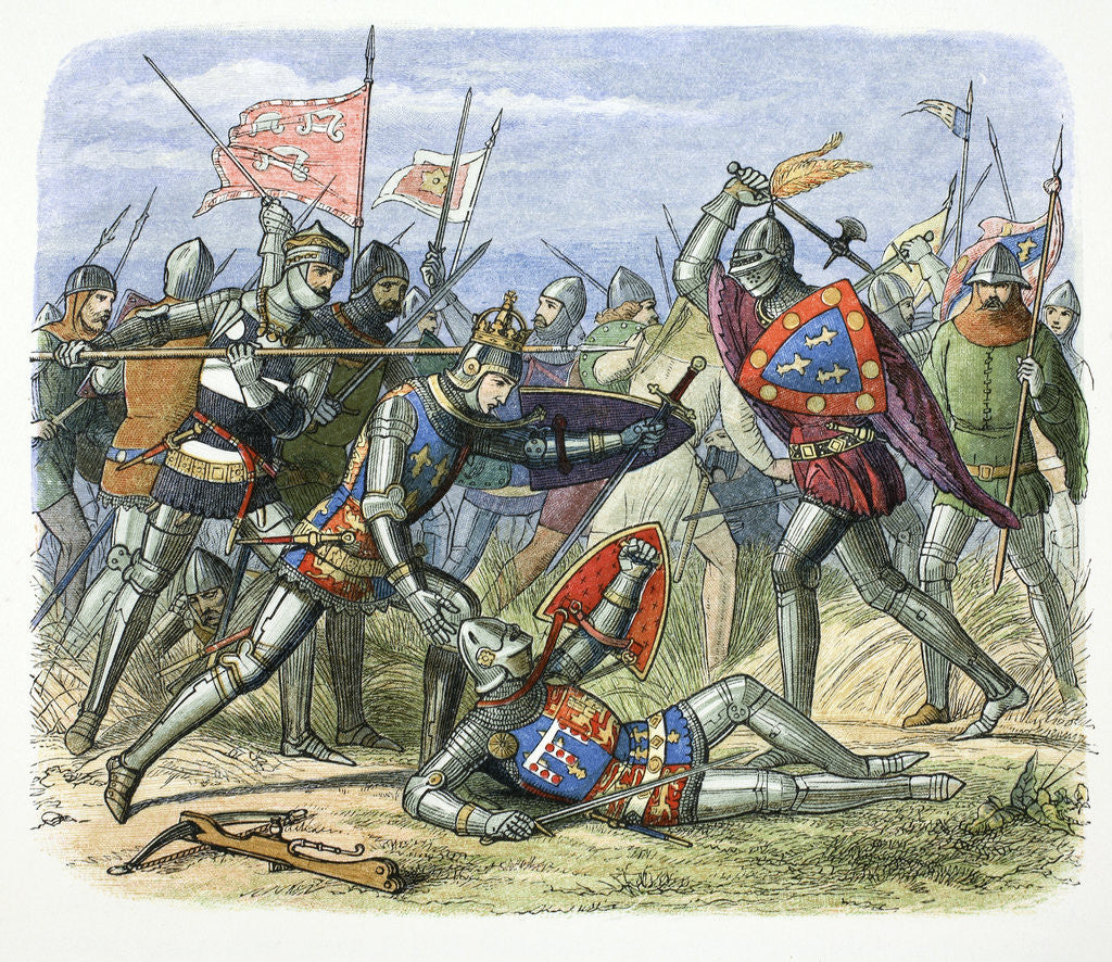 Detail of Henry V of England attacked by the Duke of Alencon at the Battle of Agincourt by James William Edmund Doyle