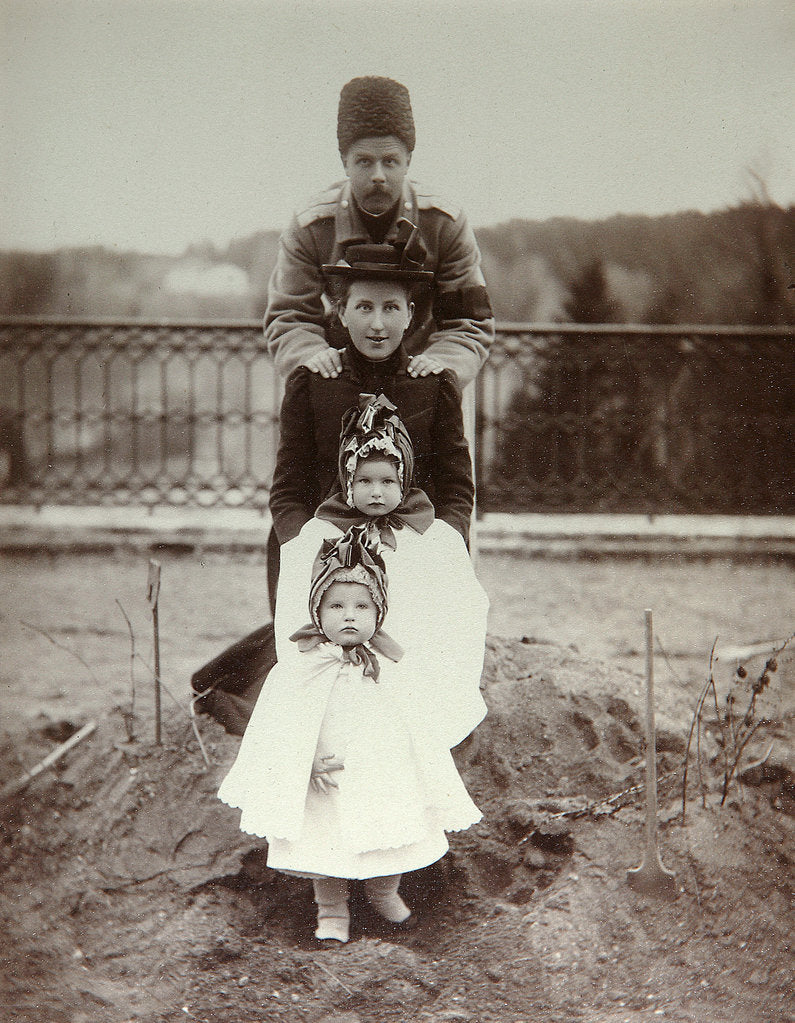 Detail of Members of the family of Duke Fyodor Uvarov at their country estate, Porechye, Russia, 1880s by Unknown