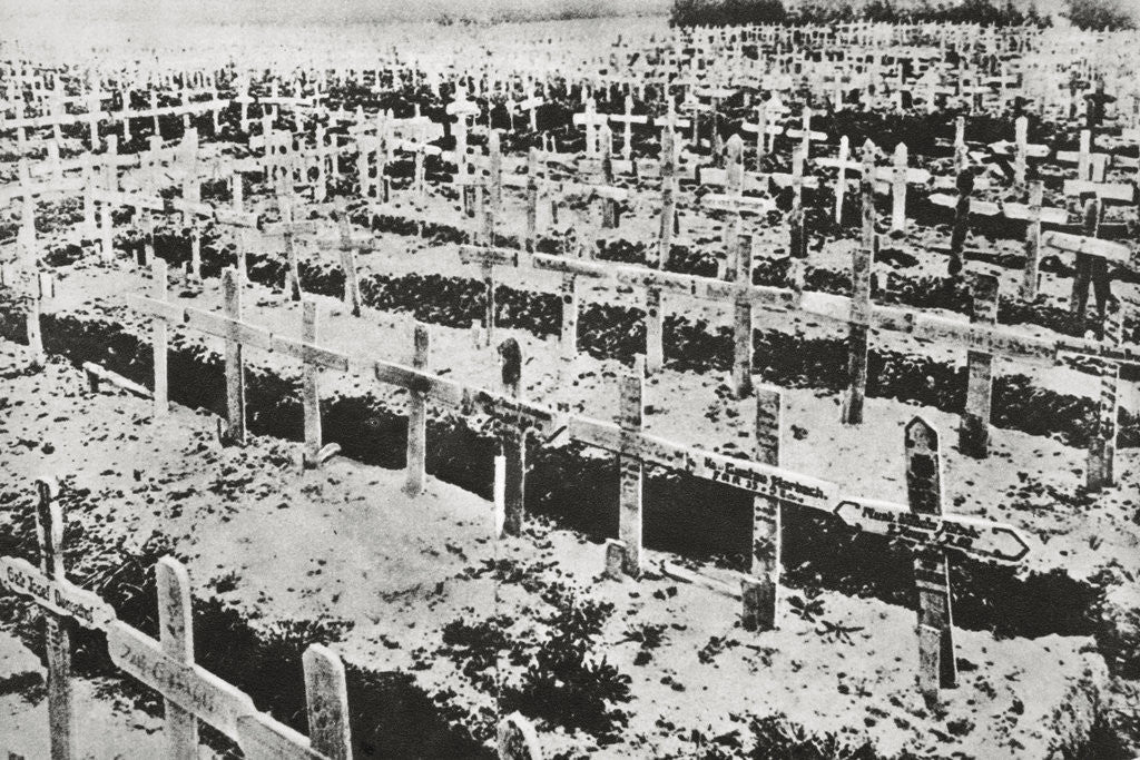 Detail of A German cemetery in France by Anonymous