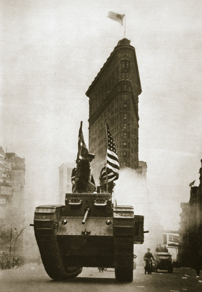 Detail of British tank 'Britannia' on Fifth Avenue by Anonymous