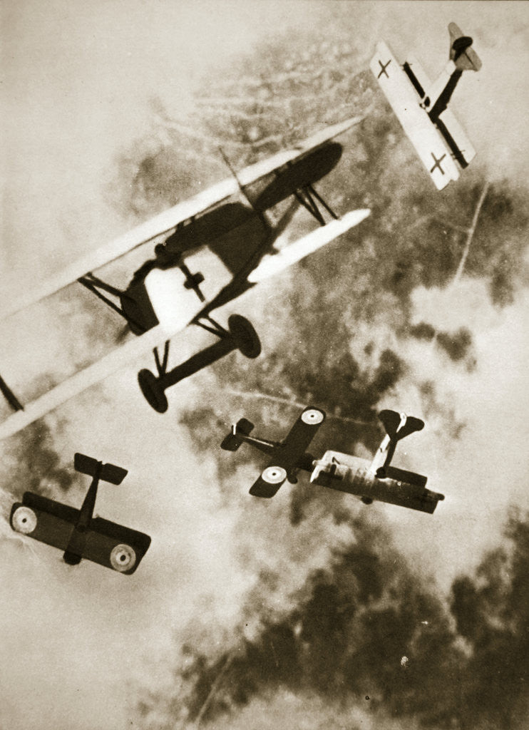 Detail of Dogfight between British and German aircraft by Anonymous