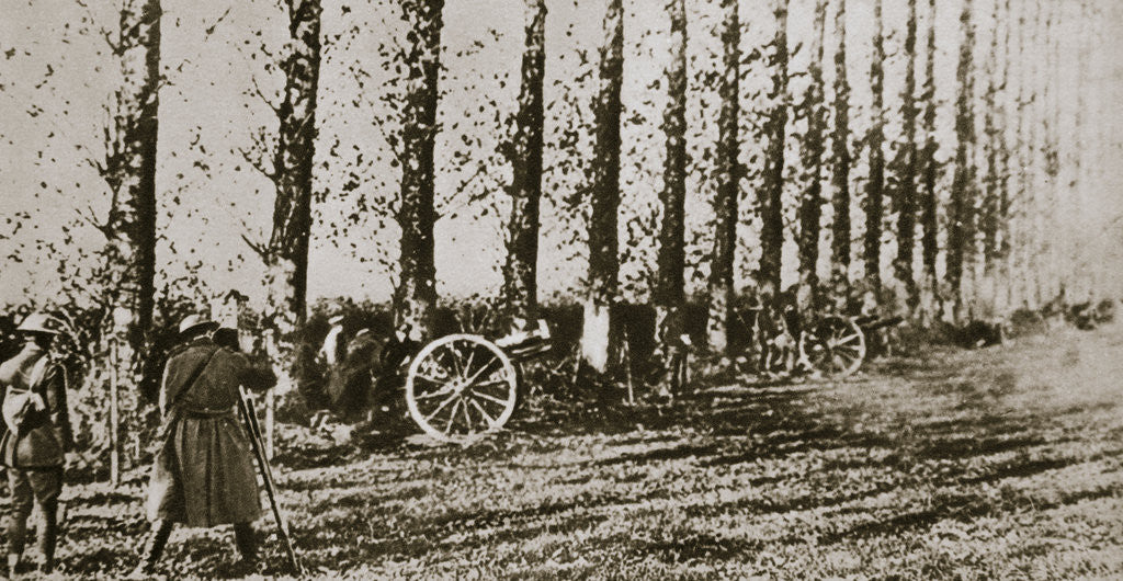 Detail of Filming the last shot fired before the Armistice by Anonymous