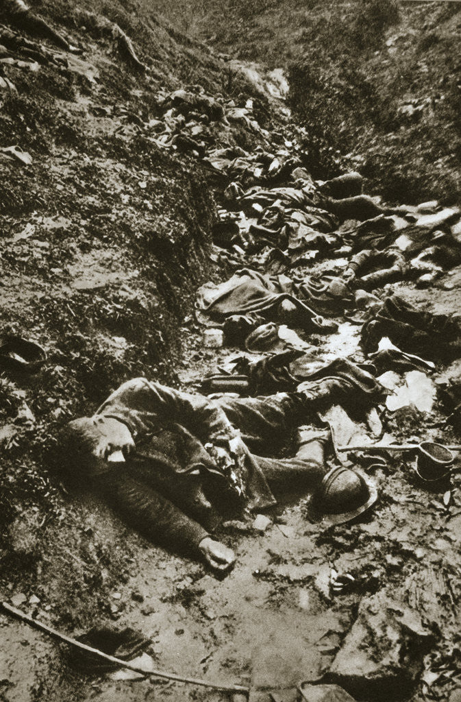 Detail of Italian dead at Cividale by Anonymous