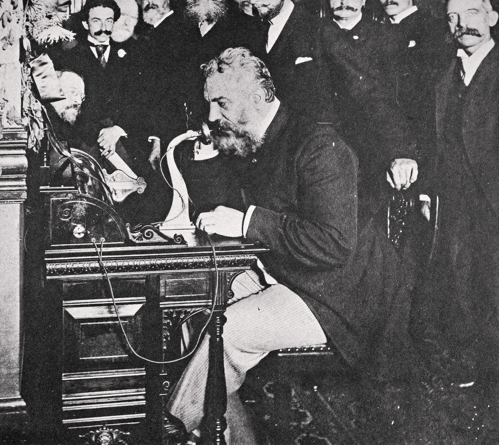 Alexander Graham Bell Makes The First Telephone Call Between New