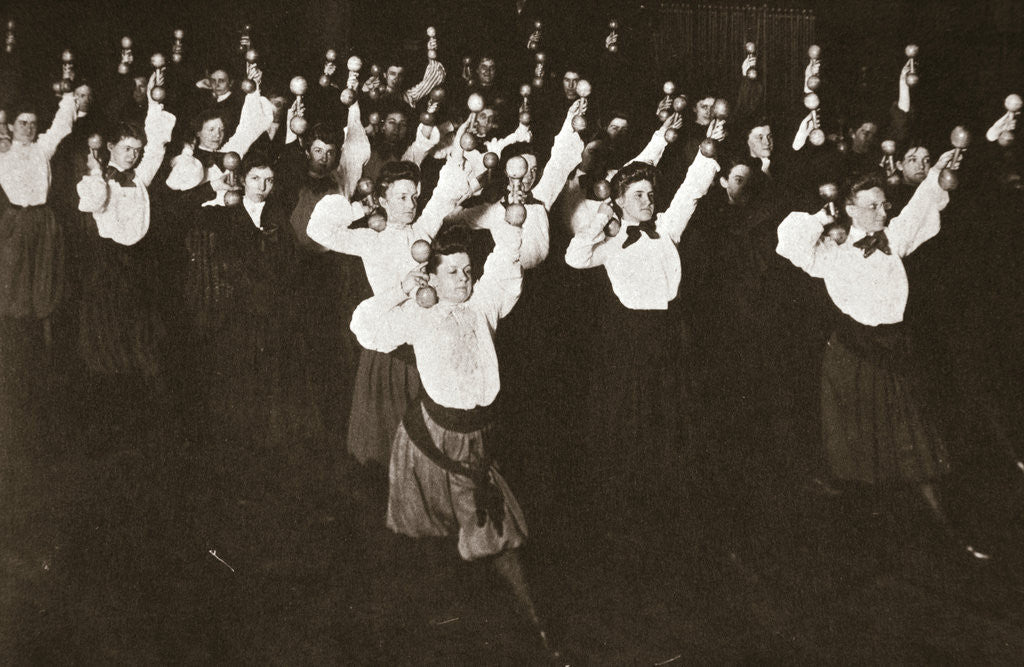 Detail of YWCA members exercising by Anonymous