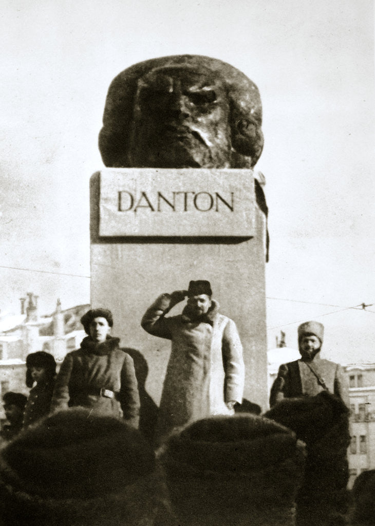 Detail of Lenin unveiling the Danton monument by Anonymous
