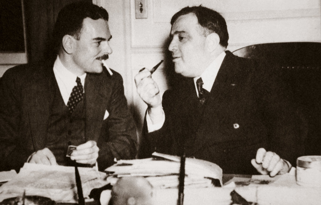 Detail of Thomas E Dewey with Fiorello H La Guardia, Mayor of New York by Anonymous